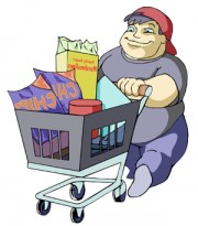 shopping boy